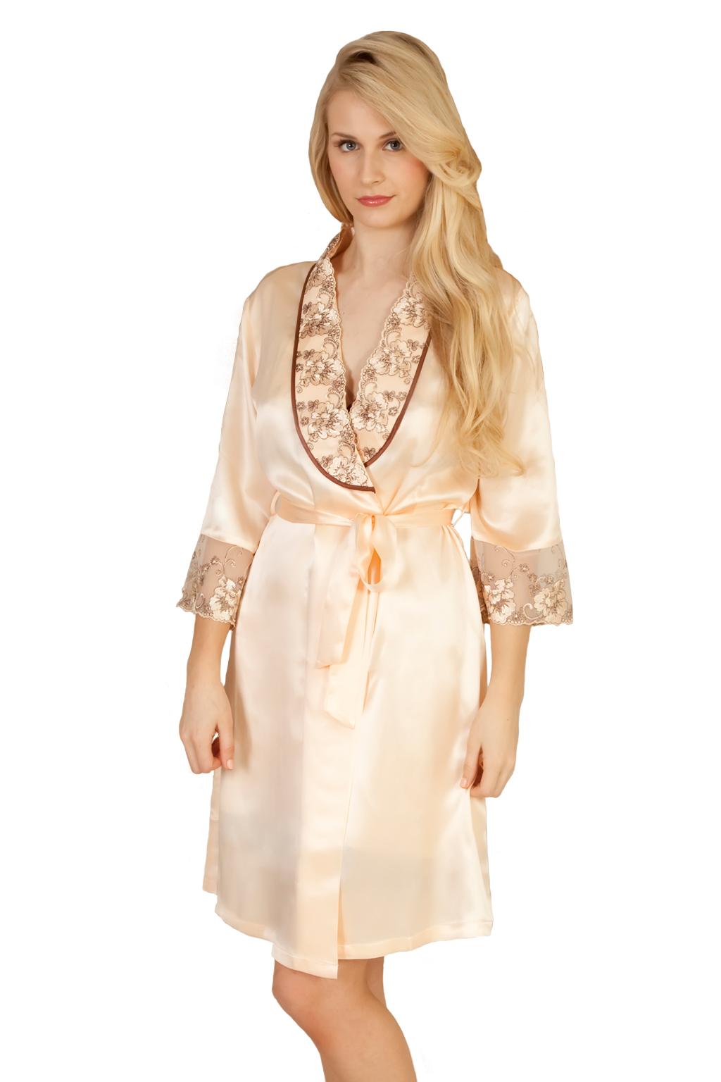 Sheer Shine Silk Dressing Gown